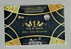 2021 Topps Tier One Baseball Factory Sealed Hobby Box 2 AUTO'S 1 RELIC PER BOX