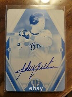 2021 Topps Tribute Adrian Beltre Cyan Printing Plate Auto #1/1
