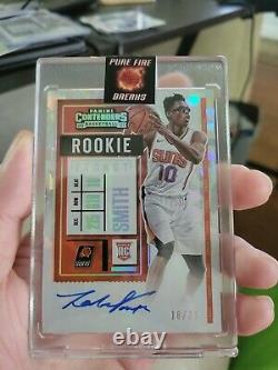 20-21 Contenders JALEN SMITH Cracked Ice RC Ticket On-Card Auto /25 Variation