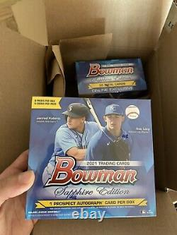 2 x 2021 Topps Bowman MLB Sapphire Edition Boxes Factory Sealed IN HAND