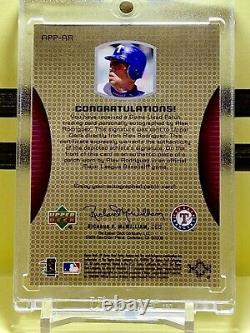 ALEX RODRIGUEZ 2004 SP Game Used Patch Auto Texas Rangers His Jersey Number 3/50