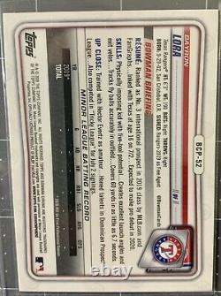 Bayron Lora 2020 Bowman Chrome Purple Refractor Rc #031/250 Sp! Texas Rangers