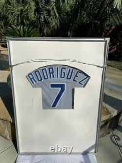 Ivan Rodriguez Rookie Year Game Worn & Signed Rangers Jersey Provenance