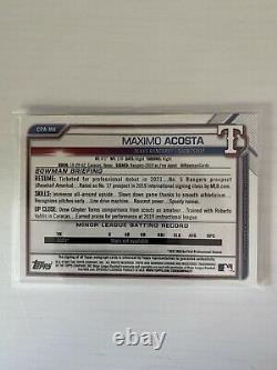 Maximo Acosta Bowman Chrome 1st Orange Autograph /25 CPA-MA