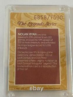 NOLAN RYAN 1991 Donruss Elite The Legends Series 6858/7500 Texas Rangers
