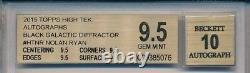 NOLAN RYAN 2015 TOPPS High Tek AUTO 1/1 Black SUPERFRACTOR Diffractor BGS 9.5