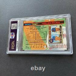Nolan Ryan 1991 Stadium Club Tux #200 Texas Rangers Card Low Pop PSA 10 Gem Mint