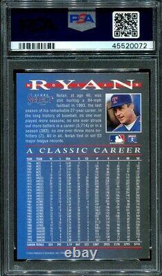 Nolan Ryan 1993 Select PSA 9 Rookie Traded Insert