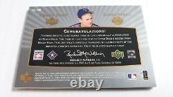Nolan Ryan 2003 Upper Deck Sweet Spot Signatures Game Used Bat Auto Card # 8/445