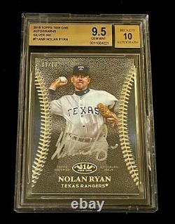 Nolan Ryan 2018 Topps Tier One Silver Ink Autograph Auto /10 Bgs 9.5 10 Rangers