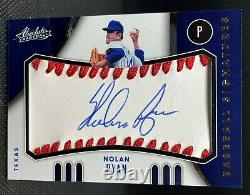 Nolan Ryan 2021 Absolute Baseball Material Signatures AUTO #BMS-NR SP SN /50