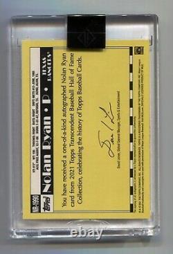 Nolan Ryan 2021 Topps Transcendent Through the Years On-Card Auto True #1/1 1990