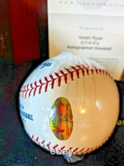 Nolan Ryan 5714 Ks Signed Autographed OML Baseball RJ. Com Cert 100% Complete HOF