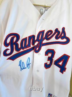Nolan Ryan Autographed Texas Rangers Jersey Baseball Hall Of Fame Pitcher