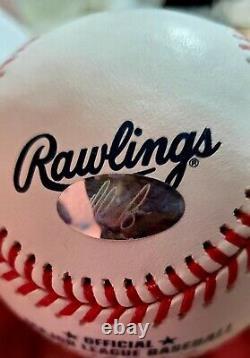 Nolan Ryan Signed Autograph Baseball with COA Perfect Condition