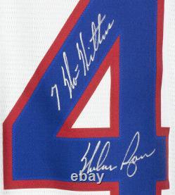 Nolan Ryan Signed Texas Rangers Nike Cooperstown Baseball Jersey Multi Insc. BAS