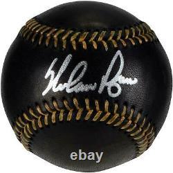 Nolan Ryan Texas Rangers Signed Black Leather Baseball Fanatics