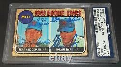PSA DNA Rc Nolan Ryan Auto Rookie 1968 Topps #177 Jerry Koosman Autograph Signed
