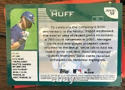 SAM HUFF 2021 Topps Series 2 SUPERFRACTOR ROOKIE 1/1 (Rangers)