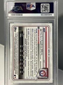 Sam Huff 1st Bowman Chrome AutoSapphire EditionPSA 9 Texas Rangers